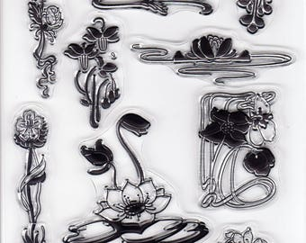 Art Nouveau CLEAR STAMP SHEET for Card Making Scrapbooking Embellishment Decor
