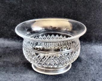Davidson Pressed Glass Sauce Bowl in the 1907 Clear pattern British circa 1906