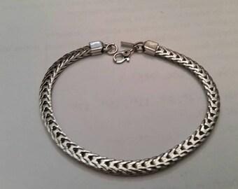 Vintage Monet Silver Woven Bracelet