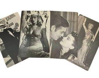 Large Hollywood Postcards Movie Stars Tribly Poster-Card Gone with the Wind Veronica Lake Clark Gable Mae West WC Fields