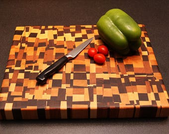 Chaotic End Grain Cutting Board-Cheese Board, Personalized it, Make a Great Gift, Valentine, Anniversary, Birthday, Gift For Her, or him