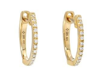Huggie Diamond Earrings