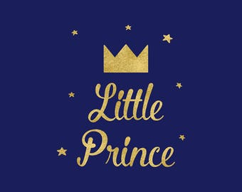 LIttle Prince SVG, Baby Boy SVG Clipart, Cutting File, Silhouette, Cricut Explore, Crown Clipart, Graphic Overlays, Vector File, BUY5FOR7