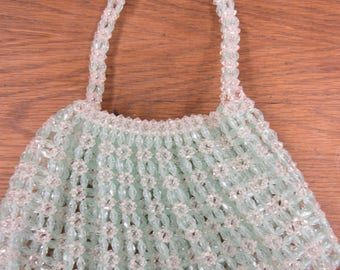 Funky Sea Green and Clear Plastic Purse