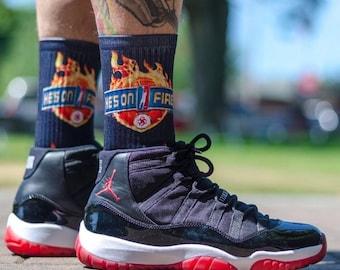 He's On Fire! - Silky Socks