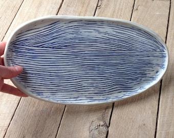 Ceramic platter, ocean horizon platter, ceramics and pottery, Australian made, platter, Australian handmade, stoneware