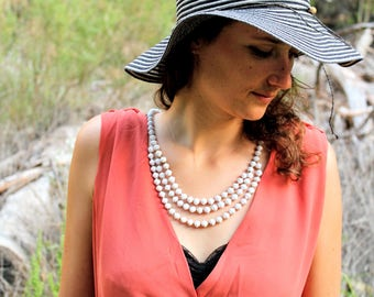 """Fair Trade Paper Bead Necklace, Three Half Strands // """"Suubi Necklace"""" // Because of Hope // Ethical Style"""