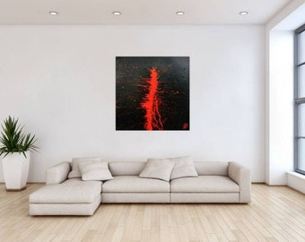 Original abstract artwork on canvas ready to hang 100x100cm #716