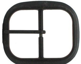 "Black Center Bar Belt Buckle 1-1/2"" 1566-13"