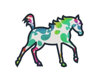 American Beauty Machine Applique Horse Applique Embroidery Designs 4X4 5X7 6X10 8X8 Instant Download