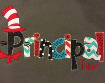Principal I am Applique Blingy T-Shirt