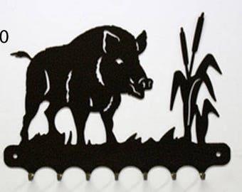 Hangs key pattern metal: boar