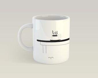 Mug - Cafes - ceramic Cup, gift
