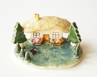 Miniature House, Ceramic by Her Moments