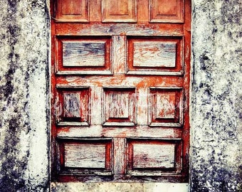 Red Door Photo, Rustic decor, Vintage door, rural decor, door photo, red, old door, antique door photo, home decor, wood, country decor