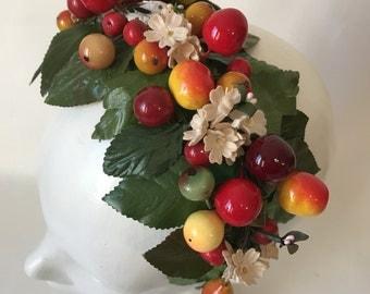 Vintage Fruit and Flower Hat