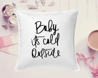 Christmas Pillow Cover, Christmas pillow baby its cold outside
