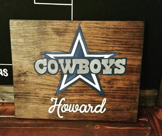 Dallas Cowboys Welcome Home Sign: Dallas Cowboys Wood Sign Dallas Cowboys Art Personalized