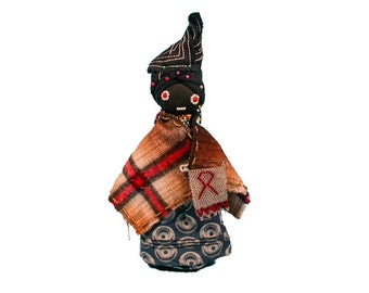 """South African Xhosa Doll. 13"""" tall. 7' wide."""