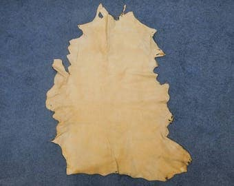 Commercial Brain-Tanned Smoked Deer Leather