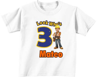 Bob the Builder Birthday Custom t-shirt (Different Colors)/ Bob the Builder/ Bob the builder t-shirt