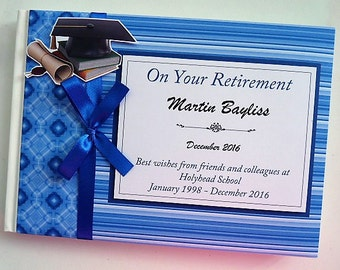 Personalised Teacher Retirement/Wedding/Occassion Guest Book