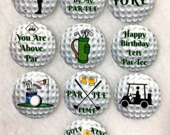 Set of 50/100/150/200 Personalized Golf Birthday Party  1 Inch Confetti Circles