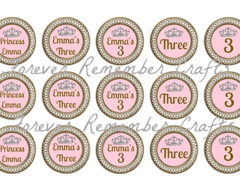 Personalized 3rd Birthday Party 1 Inch Bottle Cap Image Sheets *Digital Image* 4x6 Sheet With 15 Images