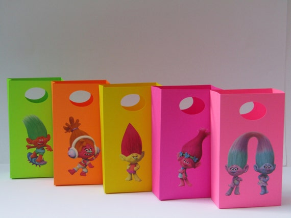 Colorful Trolls Gift Bag