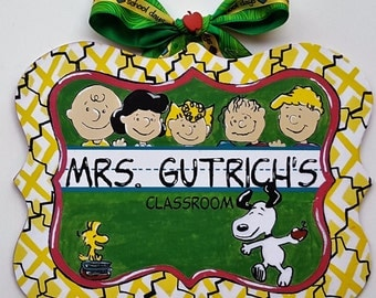 Peanuts Teacher Sign