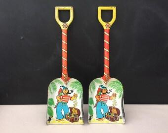 Child Metal Sand Shovel - Vintage J. Chein Sand Shovel - Pirate Sand Shovel - Beach Decor - Prop - Display - Treasure Chest - Nautical Decor