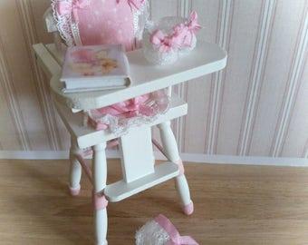 high chairs for baby girl nursery 1:12
