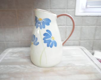 Vintage 9 1/2 inch Molde made in Portugal floral tea pitcher