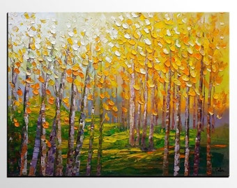 Oil Painting Landscape, Canvas Painting, Canvas Art, Original Art, Large Art, Large Art, Abstract Painting, Large Wall Art, Tree Art