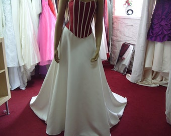 Margeret Lee Size 12 Wedding Dress Red/Ivory  CA15
