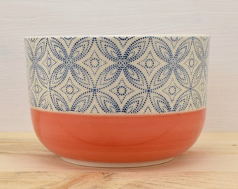 Bowl cereal coral - blue stars
