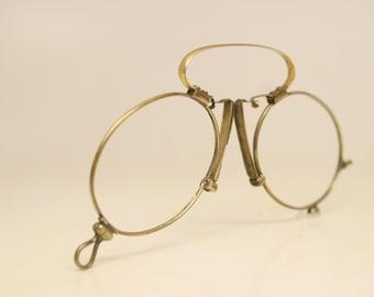 Antique Spring Bridge Pince Nez Eyeglasses