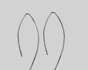 Sterling Silver Wire Arc Earrings