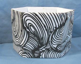 Vintage Mod Black and White Swirl Vinyl Desk Caddy