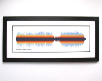 When You Were Young - Print, Framed Print, Canvas - Rock Band Poster, Music/Song Sound Wave Art