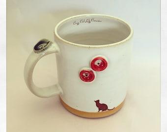 The Bull Bull Collection Black Cat- Coffee Mug
