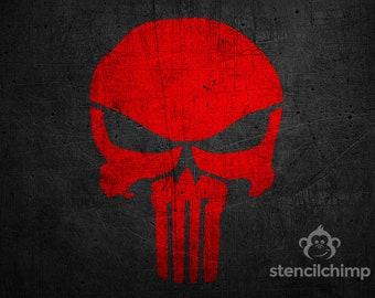 DIY Art Stencil - The Punisher Stencil