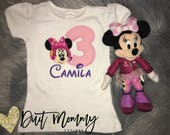 Minnie | Happy Helpers | Mickey Roadster Racers | Embroidered | Birthday Party Shirt | Personalized | Custom | Pick Your Deadline