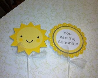 You are my sunshine centerpiece, sunshine centerpiece, you are my sunshine birthday party