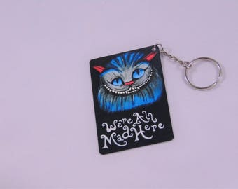 Cheshire Cat Alice In Wonderland Inspired Keychain