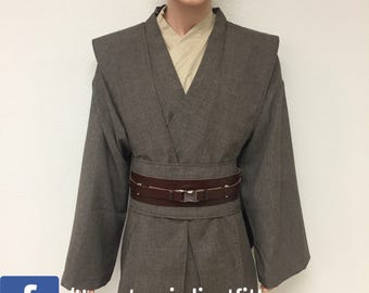 Star Wars Inspired Mace Windu Tunics with Tabards, Obi and leather belt