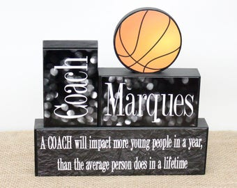 Basketball Coach Gift, End Of Season Coach Gift, Custom Coaches Gift, Sports Team Thank You Gift, Personalized Coach Gift, Coach Wood Sign