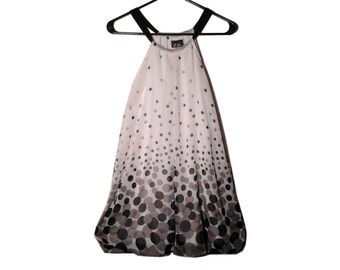 Vintage Polka Dot Halter Neck Swing Dress