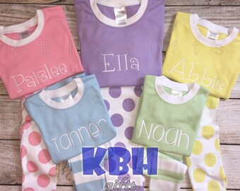 Kids easter pajamas | Etsy