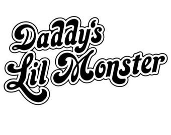 Daddy's Lil Monster DIY iron on ... Father's Day Do It Yourself Iron on for Chrildren's Clothing ... First Father's Day